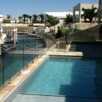 Glass pool fencing balustrade brewster